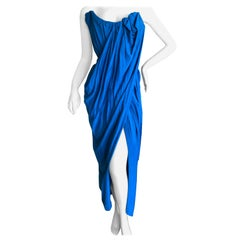 Andreas Kronthaler for Vivienne Westwood Blue Evening Dress with Built In Corset