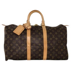 Louis Vuitton Monogram Keepall 45 Travel Duffle Handbag