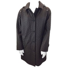 Burberry Brown Quilted Coat