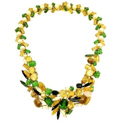 Multi shaped and multi coloured paste necklace, Christian Dior, Germany, 1962