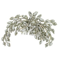 EB Sincerely Yours Pearl and Crystal Headpiece