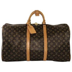 Louis Vuitton Monogram Keepall 55 Travel Duffle Bag