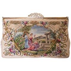 Vintage Handtasche mit Schiebe Verschluss