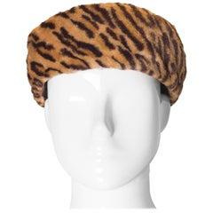 Vintage Miss Millie Animal Print Hat