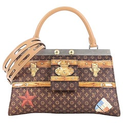 Louis Vuitton Crown Frame Tote Limited Edition Time Trunk Monogram Canvas