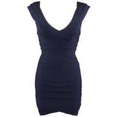 HERVE LEGER Size M Navy Bandage NANETTE MIni Dress