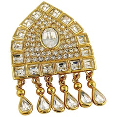 Yves Saint Laurent YSL Vintage Jewelled Russian Inspired Brooch Pendant
