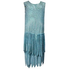 Beaded Charleston Flapper Dress from Art Deco French Period Circa 1920
