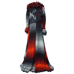 Christian Lacroix Couture Long Woollen Coat Numbered 7809 Circa 1985