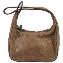 Gucci Beige / Pink Mini  Handbag in Python Leather