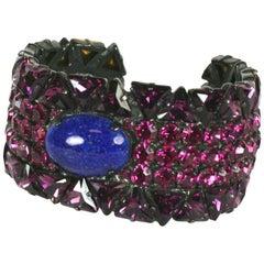 Yves Saint Laurent Jewled Cuff Bracelet