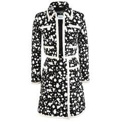 2015 CHANEL Splatter Tweed Jacket and Skirt Suit
