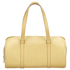 Louis Vuitton Epi Soufflot weiß Tasche