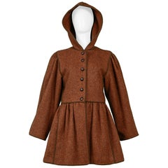 Vintage Yves Saint Laurent 1970's Russian Hooded Coat
