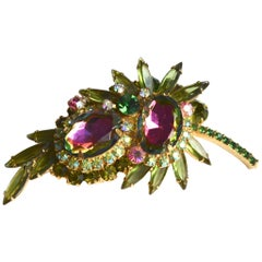 60s Juliana Watermelon Brooch