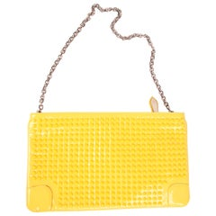 Christian Louboutin Studded Clutch - yellow