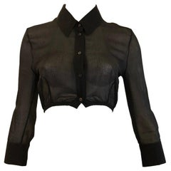 Lovely Alexander McQueen  Black Cropped Bolero Jacket