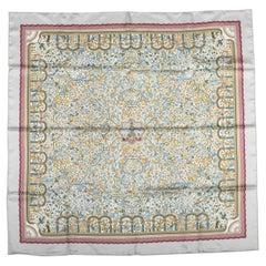 Hermes Silk Les Jardin D'armenie Twill 90cm Scarf, Box