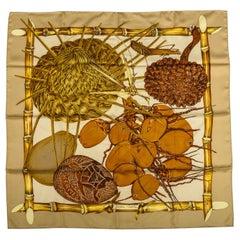 Hermes Jardin Creole Silk Scarf by Valerie Dawlat Dumoulin, Box