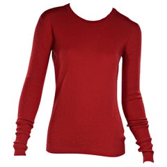 Red Vintage Chanel Cashmere Sweater