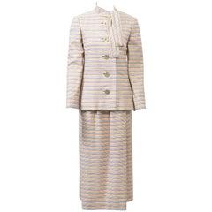 Pauline Trigère Striped Wool Suit