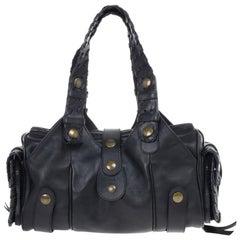 Chloe Black Leather Silverado Bag