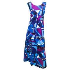 1960s Liberty House Mod Printed Hawaiian Dress