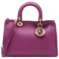 Christian Dior Purple Leather Diorissimo Bag