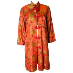Vintage Japanese Coat /Jacket with Crysanthemum Detail