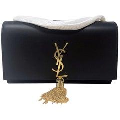Yves Saint Laurent YSL Kate Medium Black Tassel Bag in Dust Bag
