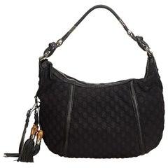 Gucci Black Quilted Nylon Techno Hobo Bag