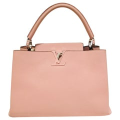 Louis Vuitton Pink Capucines Taurillon MM Top Handle Tasche