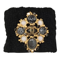 Chanel 2001 A Tweed Bracelet with Brooch