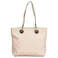 Gucci Pink Guccissima Jacquard Eclipse Shoulder Bag