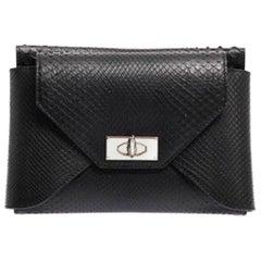 Givenchy Shark-Tooth Python Clutch Bag