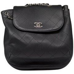 Chanel Quilted Caviar Leather Backpack