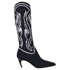 Dior Damen Dior Geist Jacquard Knit Mid Calf Boot