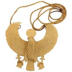 Horus God Of The Sky Pendant Necklace King Tut Exhibit MMA Museum Modern Art '76
