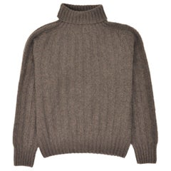 Tom Ford Mens Cashmere Brown Knit Turtleneck Sweater Size IT48/US38~RTL $1450