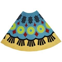 2000 Fall / Winter Keita Maruyama Blue Geometric Felt Circle Skirt