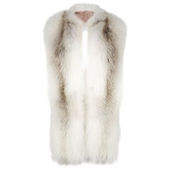 Verheyen London Legacy Stole in Natural Fawn Light Fox Fur - Silk &Monogramming