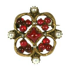 Coco Chanel Renaissance Style Quatrefoil Brooch