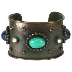 Yves Saint Laurent Berber Style Cuff Bracelet