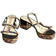 Gucci Mira Crystal-Embellished Sandal