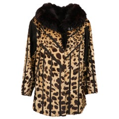1980s Leopard And Fox Coat