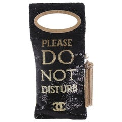 Chanel Hang Sign Evening Bag Sequins