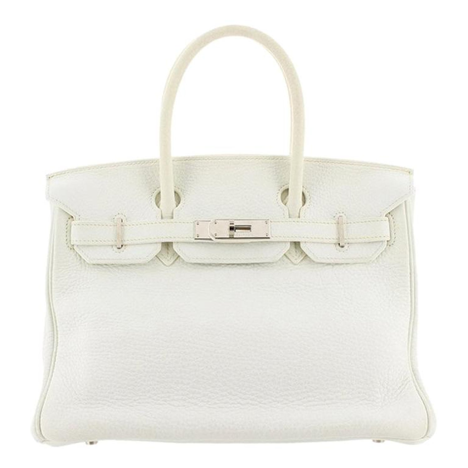 Hermes White Clemence Birkin 30 For Sale at 1stdibs cfffd81493