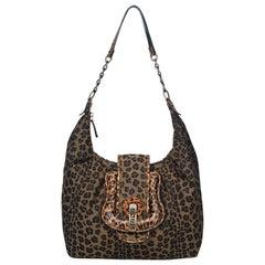 Fendi Leopard Print Hobo Bag