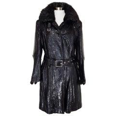 Helen Yarmak Python Leather Coat