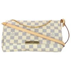 Louis Vuitton 2018 Damier Azur Canvas Favorite MM Crossbody Bag